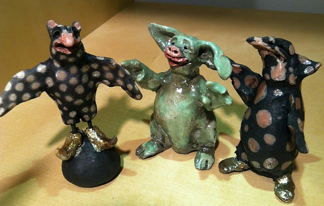 small raku monsters