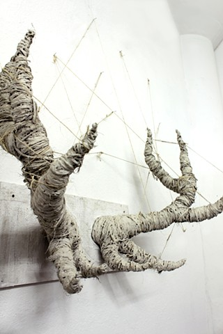 Antler sculpture created at SFAI by artist, Suzanne Torres