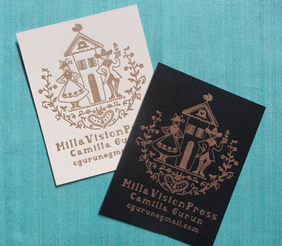 Letterpress Business Cards - Dutch