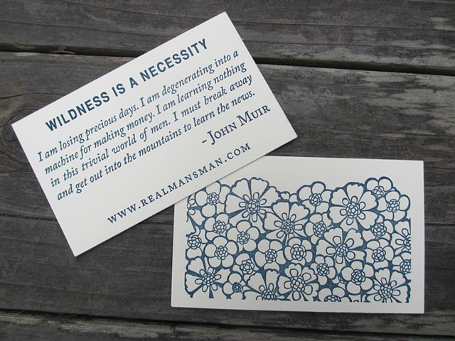 Letterpress Business Cards - Quote