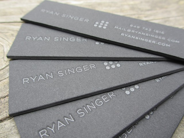 Letterpress Business Cards - Tonal