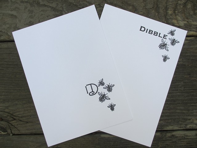 Letterpress Stationary - Bees