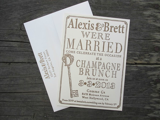 Letterpress Wedding Invitations - Key