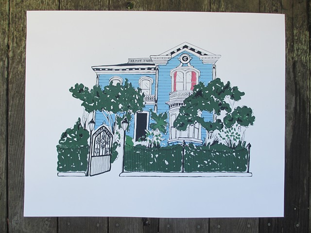 Custom Silkscreen Print - House