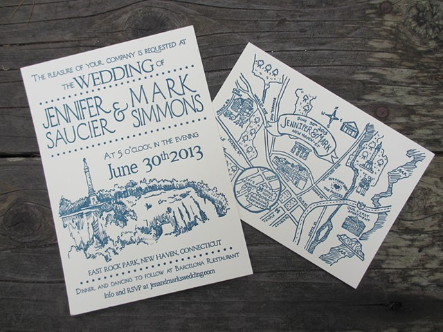 Letterpress Wedding Suite - Monument