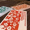 Letterpress Business Cards - Floral