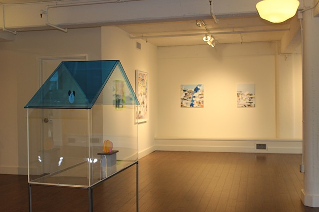 partial scene of exhibition' You are Here'