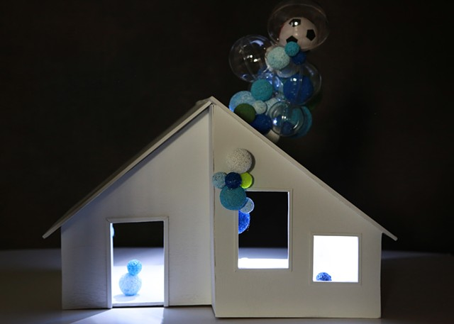 dollhouse play - blue ( front )