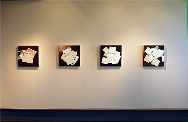 "Installation of ""Scatter"" paintings at SF MOMA Artist Gallery Jan 09"