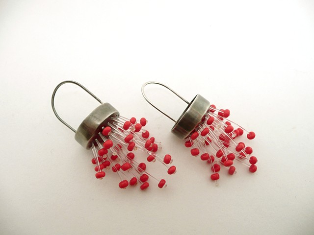 Chandelier Earrings in Poppy by Sara Owens
