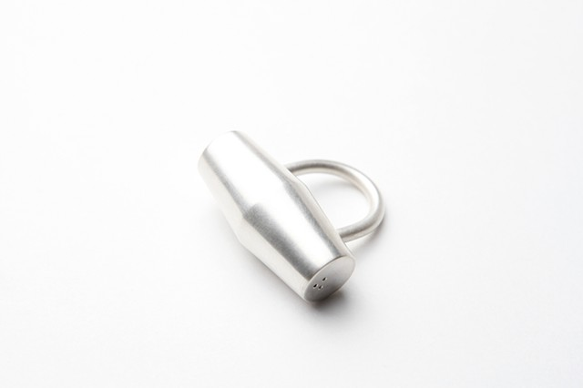 Hammerhead Ring, sterling silver by Sara Owens
