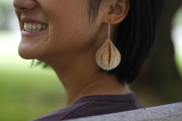 Teardrop Coffee Filter Earrings by Sara Owens