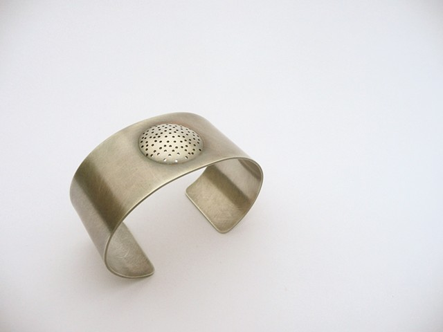 Shaker Cuff, sterling silver by Sara Owens
