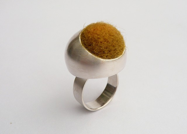 Wanderer Ring, sterling silver and felt by Sara Owens Jewelry