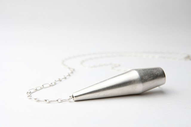 Capsule Necklace, sterling silver by Sara Owens