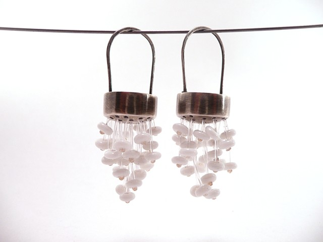 Chandelier Earrings, in Snow White by Sara Owens