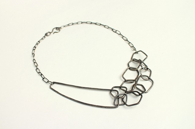 Restless Necklace, sterling silver by Sara Owens