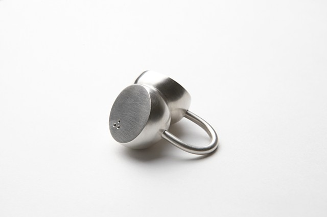 Outlook Ring, sterling silver by Sara Owens