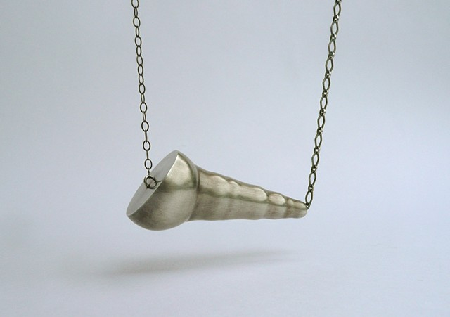 Pod Necklace, sterling silver hand fabricated necklace by Sara Owens Jewelry