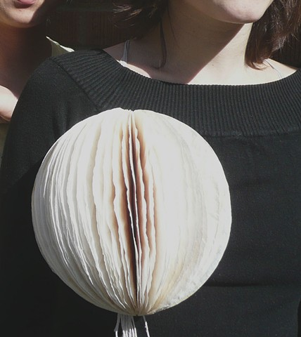 Brooch by Sara Owens made with used coffee filters