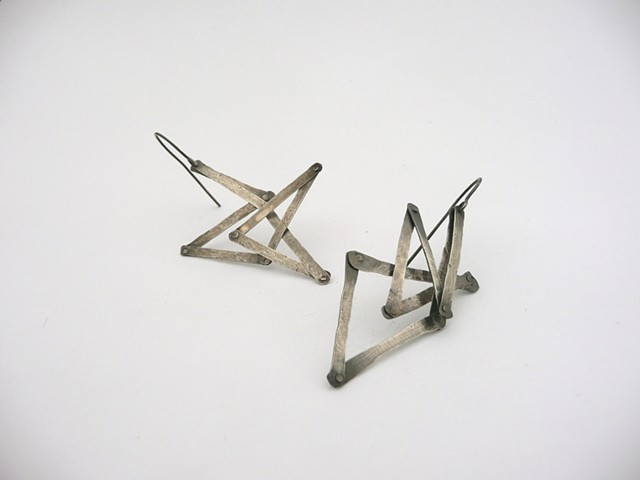 Articulated Earrings by Sara Owens