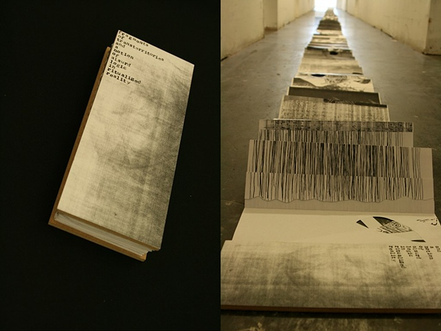 artist book, photocopy, repetition, oversized
