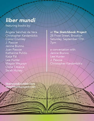 Liber Mundi at The Sketchbook Project, Brooklyn – Sept 17