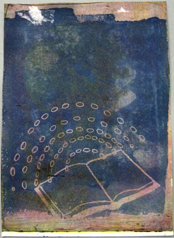 Search, Cyanotype, CMYK, Image-On, Intaglio Type, Quest for Knowledge