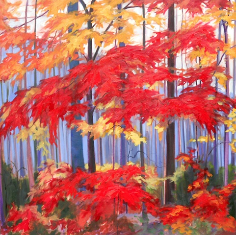 Original oil painting of trees by Katie Wall Podracky
