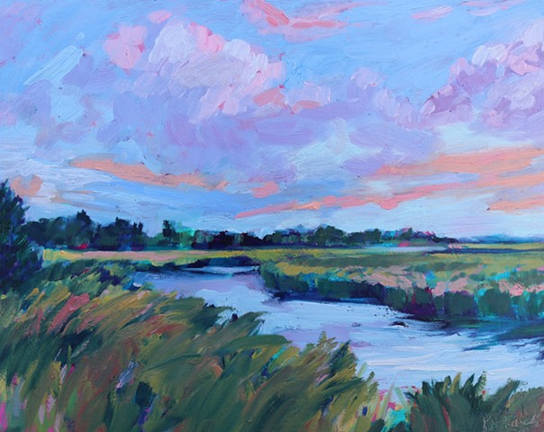 Original oil painting of Bald Head Island by Katie Wall Podracky.