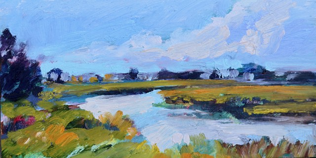 Original oil painting of Bald Head Island by Katie Wall Podracky