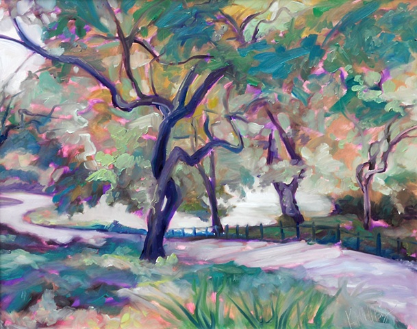 Original oil painting of Central Park by Katie Wall Podracky