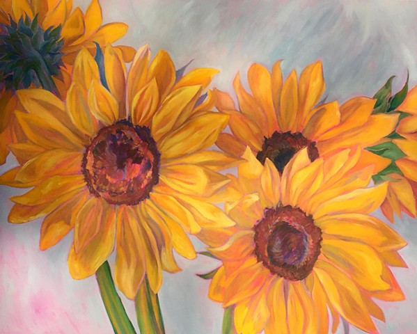 Sunflowers inspired by our son