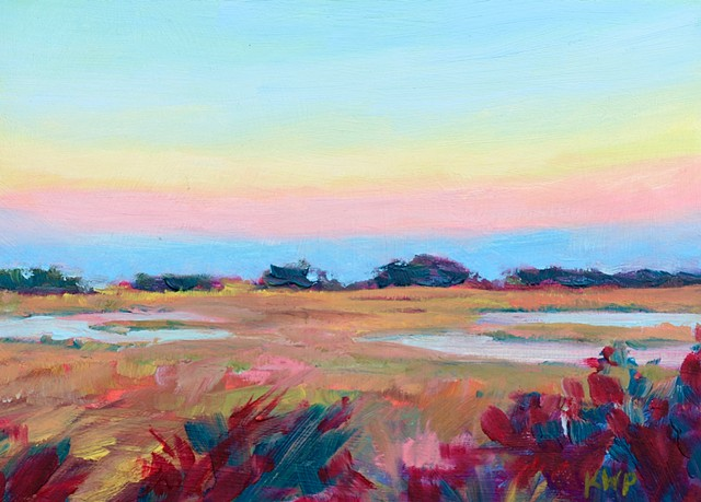 Mini Sketch of Sunset at Bald Head Island