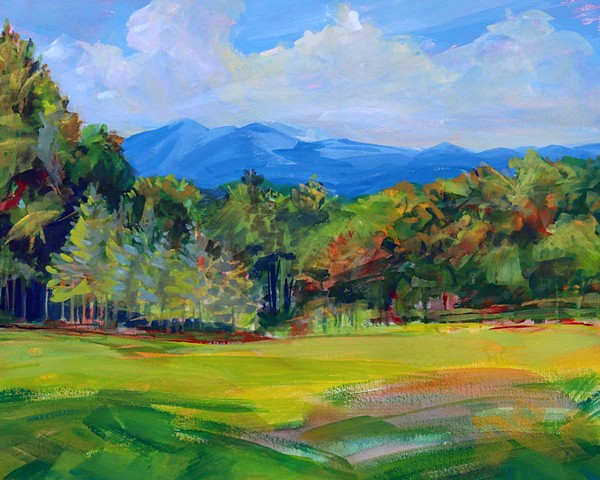 Original painting of Grandfather Mountain, NC by artist Katie Wall Podracky