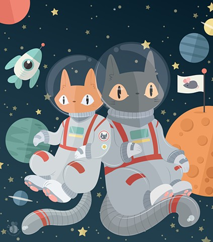 Catstronauts! In! Space!