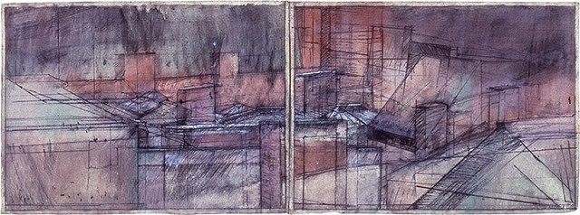 Rubbed Structures (diptych)