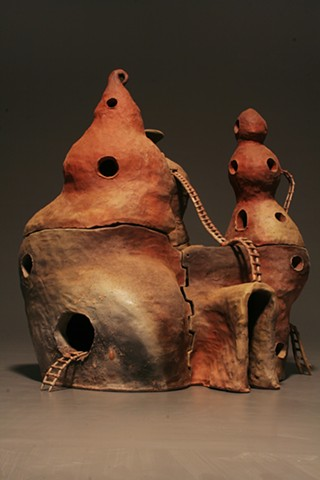 Roche Carved Hand-built Ceramic Woodfired