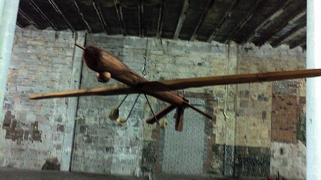 drones sculpture wood