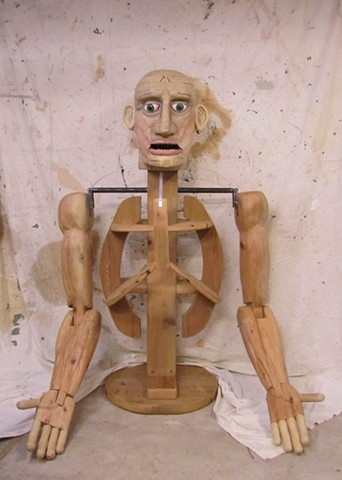giant marionette sculpture