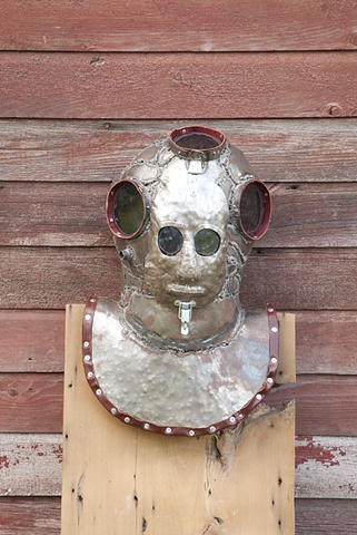 deep sea diving helmet mask steampunk armor