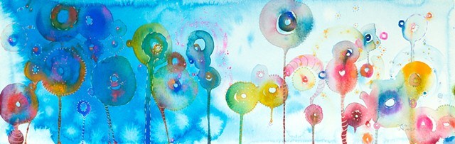 Colorful Lollipops abstract art, fine art