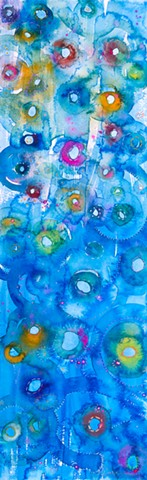 Blue Watercolor wash, under water, ocean watercolors - ocean colors