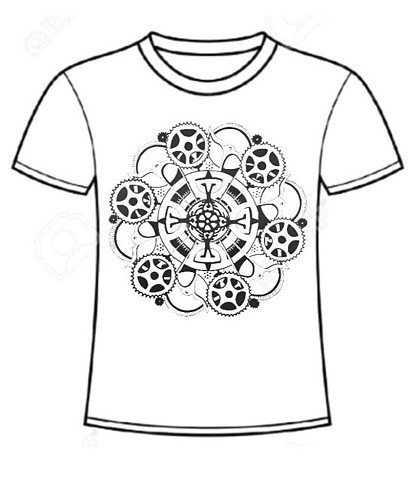 Lowell Kinetic Sculpture Race T-Shirt  (Proposed Design Template).