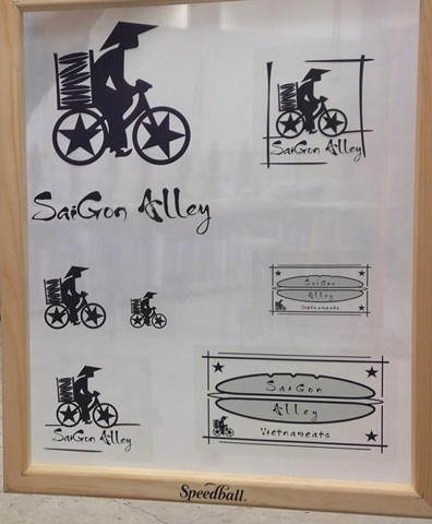 Saigon Alley. Company Logo and Food Truck Design. For Owners Evan and Ruby Englehart.  Collaboration with Stephen Ambra, as part of the SisBro project