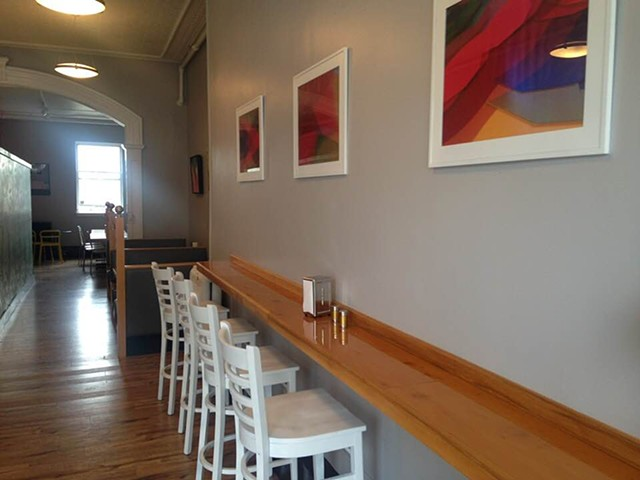 The Little Creperie. Concord NH. Installation, Selection, Print Process.
