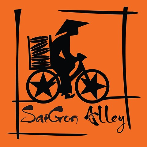 Saigon Alley. Company Logo and Food Truck Design. For Owners Evan and Ruby Englehart.  Collaboration with Stephen Ambra, as part of the SisBro project.