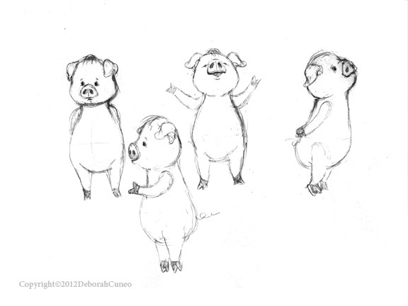 Character Sketches - Pigs