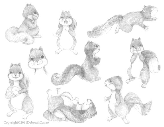 Character Sketches - Squirrels