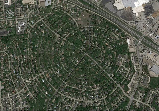 Ridgecrest Circle map